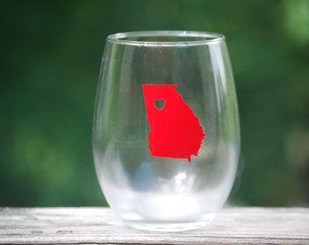 Georgia wine glass