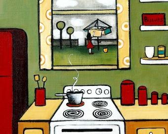 Domesticity A4 Print