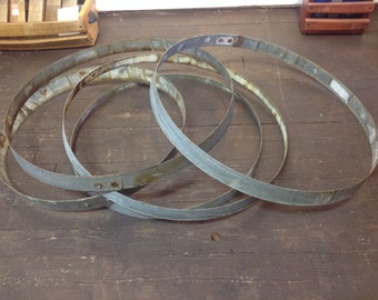 Wine barrel rings bands whiskey cask galvanized