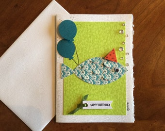 Birthday card, greeting card, blank card
