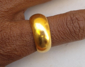 ethnic sterling silver gold vermeil gold gilded ring band rajasthan india