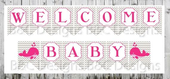 Baby Girl Baby Shower Banner DIY Banner Printable Baby