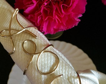 Personalized napkin rings, initial napkin rings