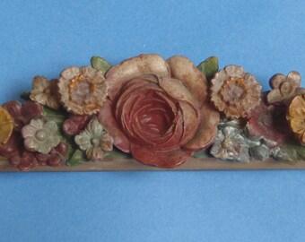 Wooden and Plaster Flower Surround