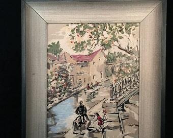 A Mid Century Framed Painting                                                                                   VG1555-B