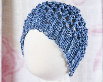 Knitted Slightly Slouchy Popcorn Hat