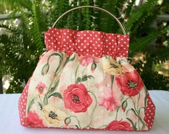 Pretty Poppies New Vintage Purse