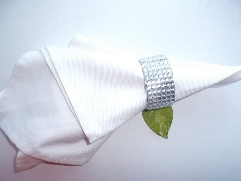napkin rings wedding napkin ring handmade by houseofelohim