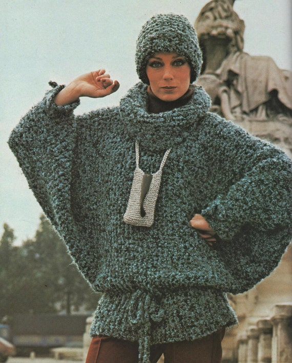 Easy Batwing Jumper Knitting Pattern : Instant Download PDF Knitting Pattern to make a Ladies Easy