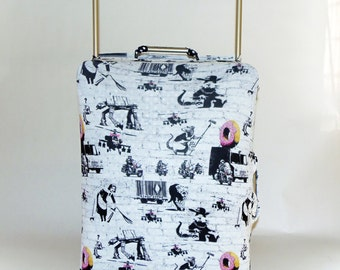 Banksy Graffiti Design Caseskinz Suitcase Cover Easily Identify Your Case On The Carousel