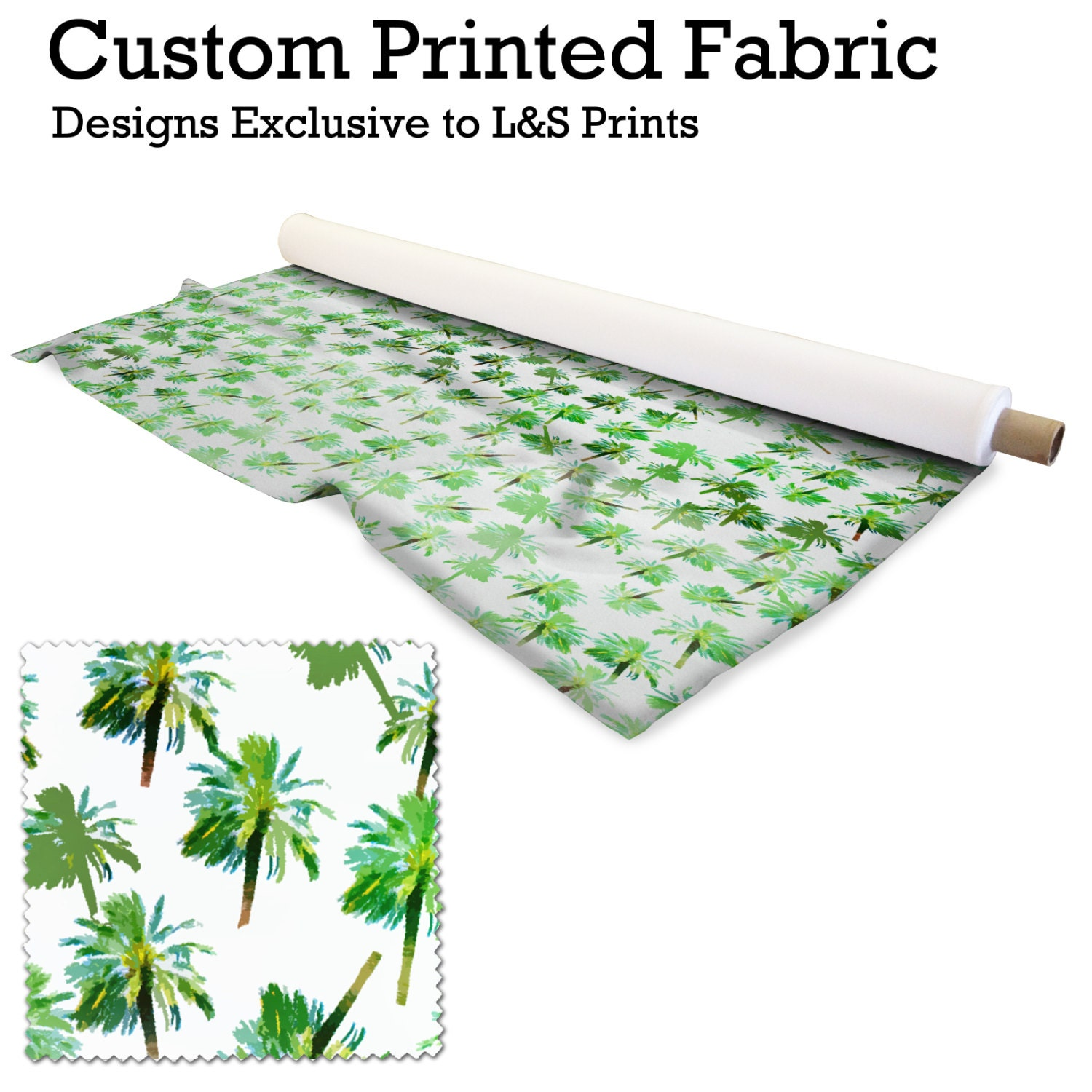 painted palm tree design fabric 2 way stretch lycra spandex satin chiffon jersey voile. Black Bedroom Furniture Sets. Home Design Ideas