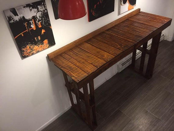 high top pallet bar table rustic handmade repurposed. Black Bedroom Furniture Sets. Home Design Ideas