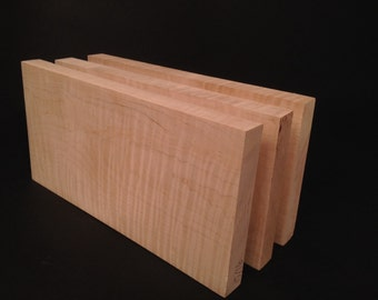 "Curly Maple /  12"" lumber / 3 piece set"