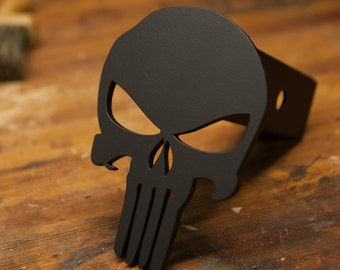 Punisher Trailer Hitch Cover - Black