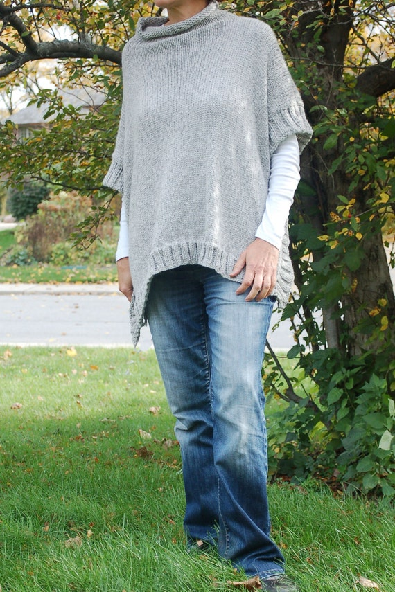 Easy To Knit Poncho Pattern Knit Poncho Simple To By Olioknits