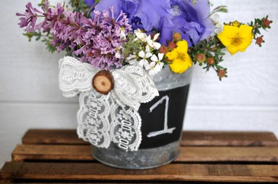 Items similar to wedding centerpiece galvanized bucket