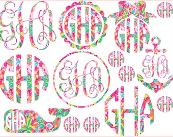 Ultimate Lilly Pulitzer Inspired Monogram Sample Pack