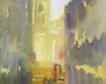 """Water Colour Painting """"Old Europe"""""""