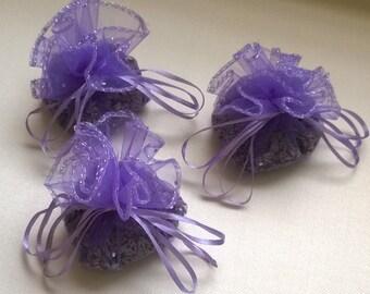 3 Purple Lavender Sachets