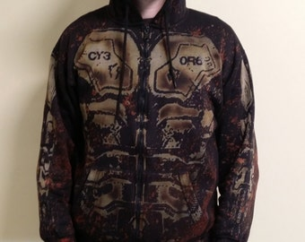 postapocalyptic cyberpunk cyborg hoodie