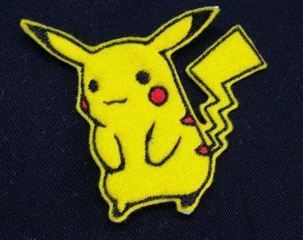 Pokemon Pikachu Ironon or Sew On Patch, Badge