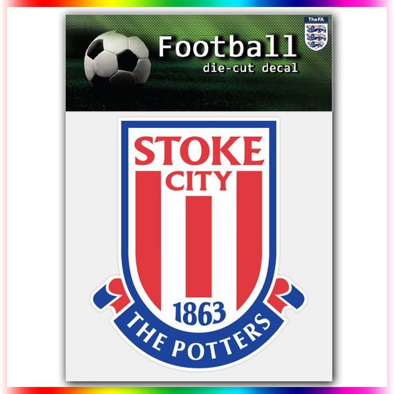 stoke city fc england uefa football logo decal by stickerforfun. Black Bedroom Furniture Sets. Home Design Ideas