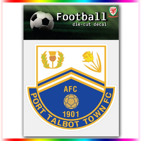 port talbot town fc wales uefa football logo by stickerforfun. Black Bedroom Furniture Sets. Home Design Ideas