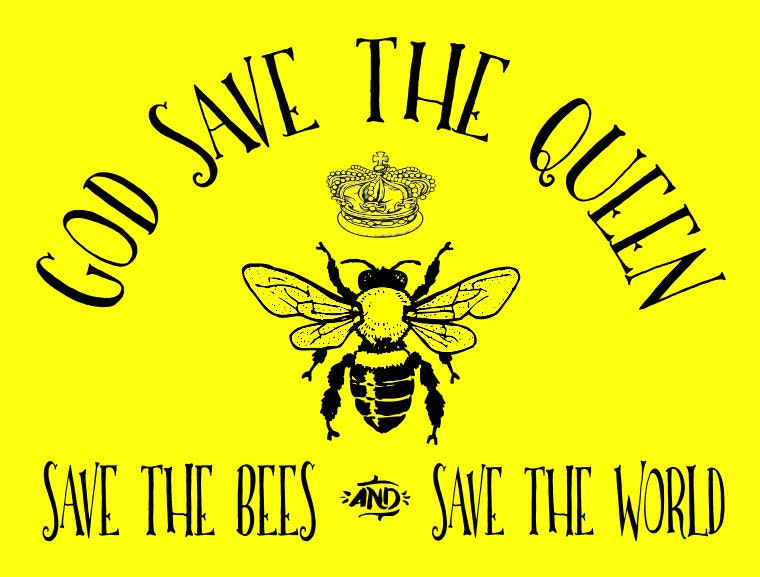 God Save The Queen Save The Bees T Shirt