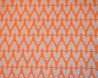 Sweet as Honey - Beekepper in Coral - orange honeycomb house bee quilting fabric