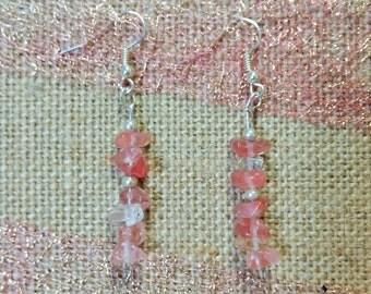 Pink & Silver Dangling Earrings
