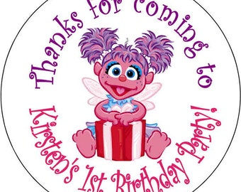 12 Abby Cadabby  Birthday Party Stickers 2.5 inch Round Personalized kids