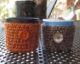 Ice Cream Cozy, Set of 2, Crochet, 3.6 Ounce Size