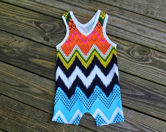baby boy romper, baby romper, zigzag romper, rainbow romper, zigzag jumper, baby clothing, baby outfit, baby gift, baby boy outfit
