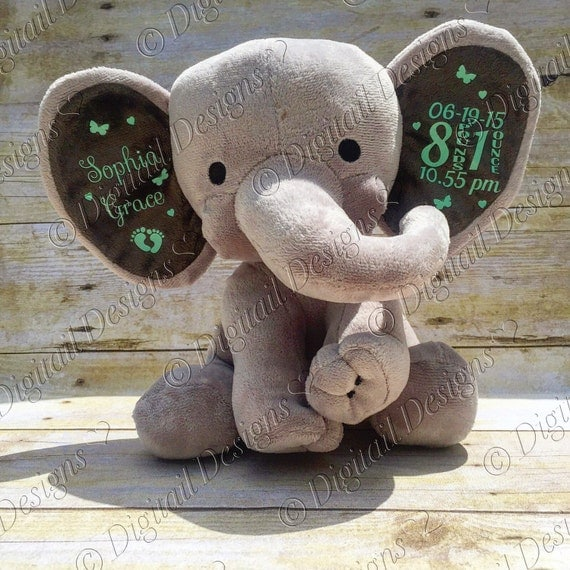 Baby Birth Announcement Elephant