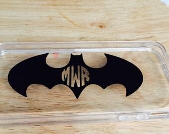 Monogram batman phone case iphone 4 4S 5 5S 6