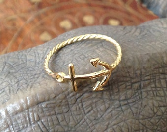 rings.Anchor ring. Sterling silver 925. Handmade ring. Sterling ring. Silver ring. Anchor jewelry.bycocosh,FREE SHİPPİNG