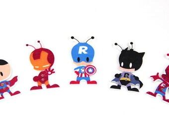 superhero ant, superman, batman, spiderman, ironman, captain america 2 hole 50mm