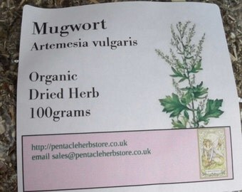 Dried mugwort herb - artemesia vulgaris
