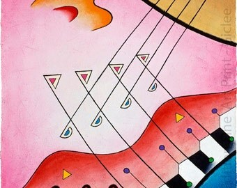 """Sonata for Guitar and Piano - """"Collector's Limited Ed. Fine Art Print - (Giclee)"""""""