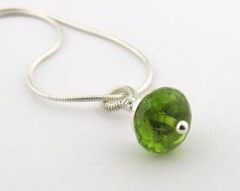 Chakra Necklace Peridot Necklace Sterling Silver Necklace Chakra Jewelry