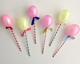 6pack Balloon Pops Kit / Balloon Popsicles Kit / Balloon Cake Topper Kit