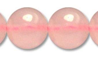 Rose quartz pearl Ø 6mm PCH060 wire length of 35 cm