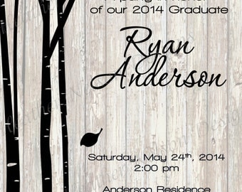 Black Birch Graduation Announcement