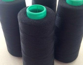 Birch Black Polyester Overlocking Thread Value Bunch