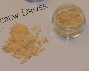 Screw Driver Mineral Eyeshadow - All Natural, Vegan, Cruelty Free Mineral Makeup- Light Yellow Eyeshadow