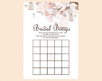 Bridal bingo Printable Bridal Bingo Cards, Gift Item Bingo cards, Bridal Shower Game Printables, Bachelorette, Wedding Shower Games BS42
