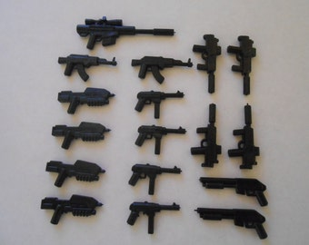 17 Guns for LEGO mini figures