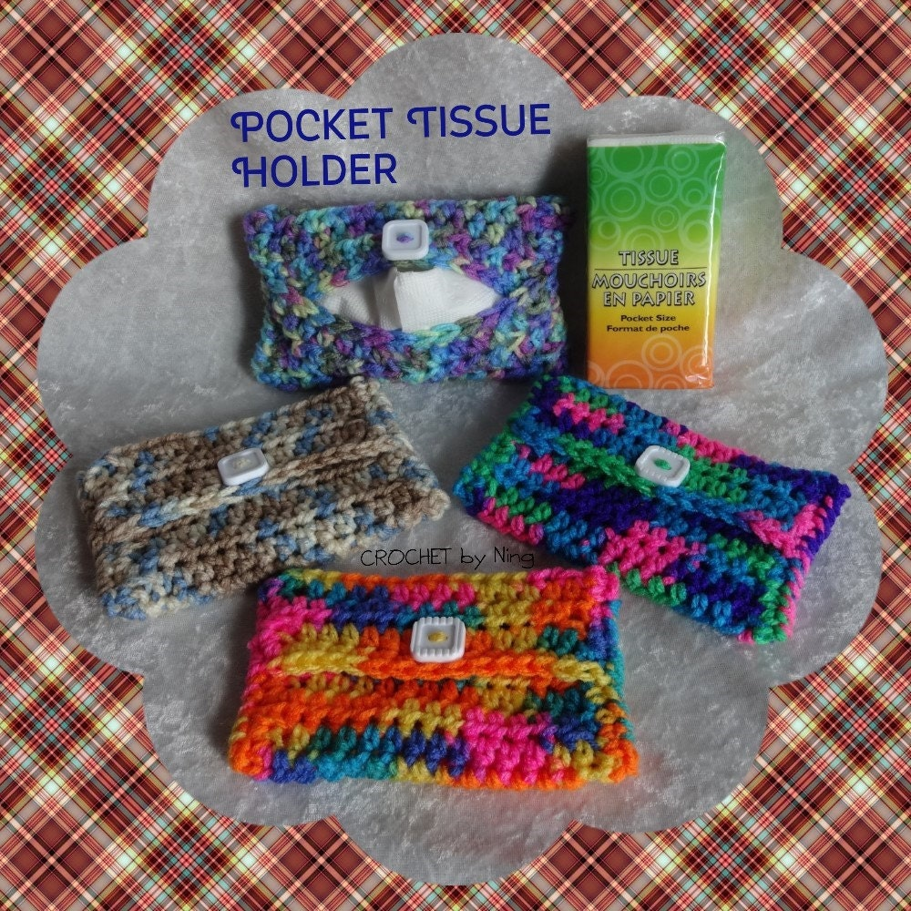 Pocket Tissue Holder Crochet Travel Tissue Tissue Cozy