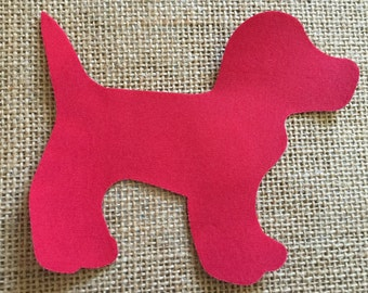 Fabric Iron on Red Dog