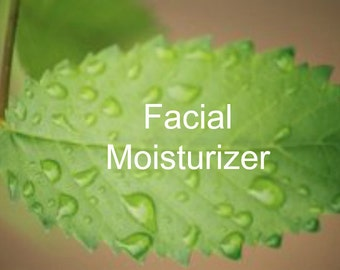 Facial Moisturizer, Unscented, All natural, 2oz